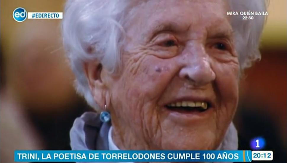 25 de Marzo 2014 El cumpleaños número 100 de Trini en Televisión Española