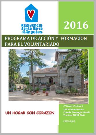 El programa de acción y formación para el voluntariado 2016